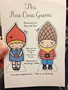 The Pine Cone Gnome At Home: Pine Cone Gnome Paper Dolls