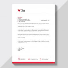 Modern company letterhead Free Vector Company Letterhead Template, Free Letterhead Templates, Job Application Cover Letter, Professional Cover Letter Template, Job Letter, Job Cover Letter, Cover Letters, Letterhead Business, Business Card Design