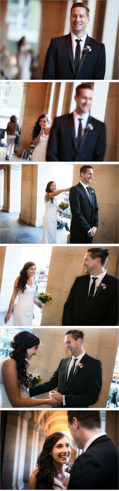photo series of bride reveal at the Melbourne GPO, bride reveal wedding ideas.