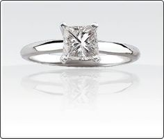 1/2ct Princess-Cut  Diamond Solitaire Engagement Ring
