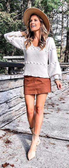 Women S Fashion Clearance Sale Skirt Fashion, Fashion Outfits, Womens Fashion, Free Spirit Clothing, Romper With Skirt, Mini Skirt, Perfect Fall Outfit, Fall Fashion Trends, Complete Outfits