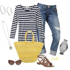 """stripes"" by michelled2711 on Polyvore"