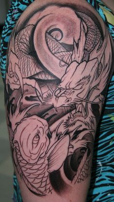 Koi_Dragon_Tattoo_by_ragdollgrl13.jpg (480×848)
