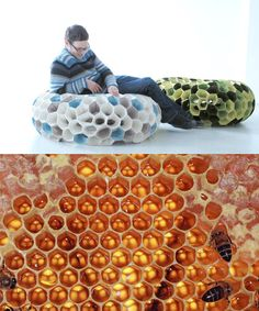 inherent stability of the hexagonal honeycomb structure Biomimicry Architecture, Parametric Design, Building Architecture, Design Research, Natural Forms, Organic Shapes, Industrial Design, Furniture Design, Design Inspiration