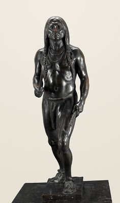 """War or Peace"" by Cyrus Dallin. 33.5"" Bronze. Now available through our fine art resellers. For more about this sculpture, please click through to description."