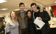 Doctor Who: Matt Smith and David Tennant at 50th anniversary read-through - pictures   Radio Times