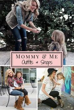 Mommy and Me outfit Ideas that you can create yourself and shops that sell Mother Daughter outfits!