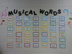 ♫ We ❤ Music @ HSES! ♫: Welcome to the Music Room! (Classroom tour- love this word wall)