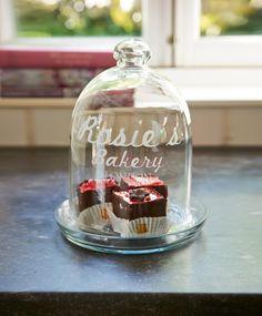 Riviera Maison Rosie`s Bakery High Dome Dia 21 cm Glasglocke · home go lucky