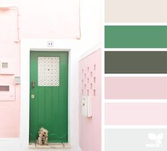 A Door Hues (design seeds) Colour Pallette, Colour Schemes, Color Trends, Color Combos, Design Seeds, Palette Design, Summer Design, Color Swatches, Wall Colors