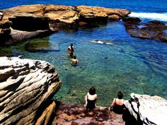 Coogee Beach, Australia. I love this place i stayed here for 6months in 2006/2007. Rock pools at the end of the beach are a good way of dodging the waves thats will wipe you out if your not careful...