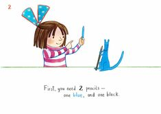 How to draw… blue kangaroo | Children's books | The Guardian Book Sites, Chichester, You Draw, Book Activities, The Guardian, Kangaroo, Childrens Books, Lily, Love You