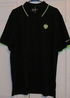 Nike Men's Golf Shirt, XL, Black, Dri-Fit, Short Sleeved, New With Tags #Nike