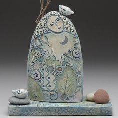Goddess of the forest, ceramic sculpture by Sue Davis – Ceramic Art, Ceramic Pottery Ceramic Figures, Clay Figures, Slab Pottery, Ceramic Pottery, Thrown Pottery, Pottery Vase, Clay Angel, Grand Art, Clay Design