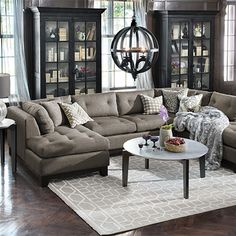 Ashley Furniture Cosmo Marble 3 Piece Raf Sectional Sofa