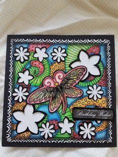 Lavinia stamps challenge entries Butterfly Bloom by A Singh