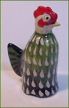 Stuart Bass ** 2008 Colorful Hen ** Pie Bird Funnel Vent