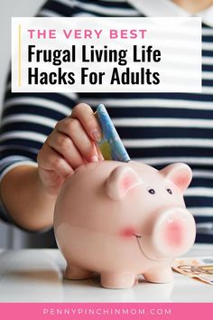 """Being a master of living frugally can be an art form. There are tricks you can try to save where you can. I call these """"Adulting Frugal Living Hacks."""""""