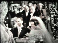 Royal wedding of Princess Irene of the Netherlands and Prince Carlos Bourbon-Parma 1964