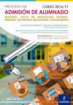 ADMISIÓN DE ALUMNADO PARA EL CURSO 2016/2017. Plazo de solicitud del 8 de febrero al 7 de marzo de 2016