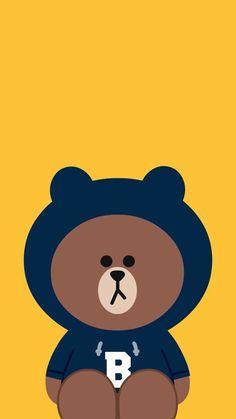 Lines Wallpaper, Brown Wallpaper, Bear Wallpaper, Apple Wallpaper, Kawaii Wallpaper, Iphone Wallpaper Unicorn, Wallpaper Iphone Cute, Cute Tumblr Wallpaper, Phone Themes