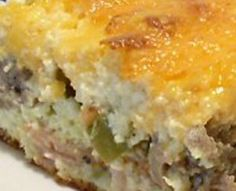 DASH diet breakfast recipe including egg, sausage, cheese and green pepper. A healthy twist on breakfast.