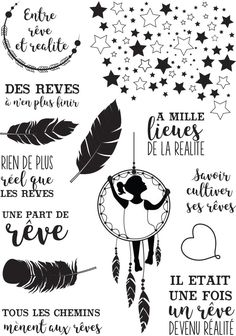 Clear stamps 'Miss Créa - Between dreams and reality' Reality - La Fourmi creative Organization Bullet Journal, Diy Organisation, Album Photo Scrapbooking, Tampons Transparents, Silhouette Portrait, Kids Silhouette, Digi Stamps, Letter Art, Bullet Journal Inspiration