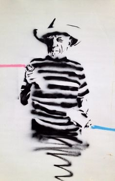 Picasso graffiti/street art