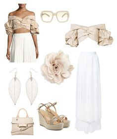 """Just because"" by im-karla-with-a-k on Polyvore featuring Johanna Ortiz, Sara Battaglia, Accessorize, Cara, Sergio Rossi, Dorothy Perkins and Prada"