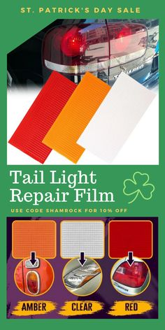 Why spend time and money on car lens replacements when you can fix it yourself! Film Red, Valentines Sale, Car Tools, Amber Color, Tail Light, Pattern Design, Adhesive, Lens, Lights