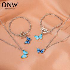 Butterfly Bracelet, Butterfly Jewelry, Butterfly Pendant, Butterfly Ring, Women's Jewelry Sets, Women Jewelry, Stylish Jewelry, Couple Necklaces, Necklace Chain Lengths