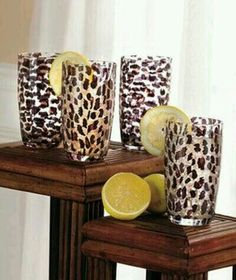 Drinking glasses that are leopard print need zebra one tooo everyone knows I'm an animal print freak Animal Print Decor, Animal Prints, Boho Home, Decoration Originale, Leopard Animal, Cheetah Print, Leopard Prints, Leopard Spots, My Favorite Color
