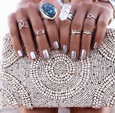 Silver rings and nails