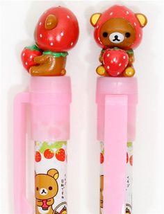 Cute pen with strawberry rilakkuma on oh my! @modes4u