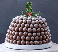 Millionaire's ice cream bombe This spectacular Christmas showstopper is covered in crunchy Maltesers and makes for an enticing alternative pudding to end your festive feast Christmas Lunch, Christmas Cooking, Christmas Goodies, Christmas Desserts, Christmas Treats, Christmas Cakes, Summer Christmas, Holiday Cakes, Xmas Food