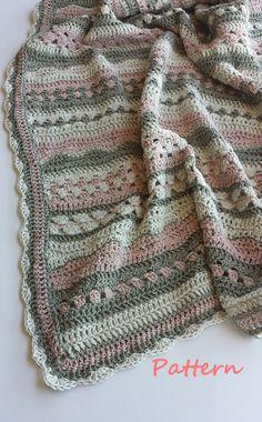 Crochet baby blanket pattern.PDF 060. por vivartshop en Etsy