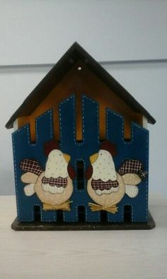 Pintura Country, Country Art, Wooden Boxes, Decoupage, Holiday Decor, Crafts, House, Home Decor, Egg Cartons