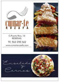CUIDAR-TE RUZAFA  Ensaladas, Carnes, Tapas Gourmet, Menú del día y noche en Ruzafa (C/Puerto Rico, 15)   Imagen: FreeZia Studio para FreeRuzafa www.freezia.es // www.freeruzafa.es
