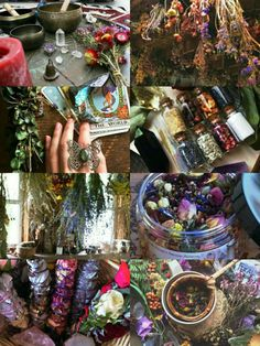 "demoniclour: ""Herbal Witch Aesthetic """