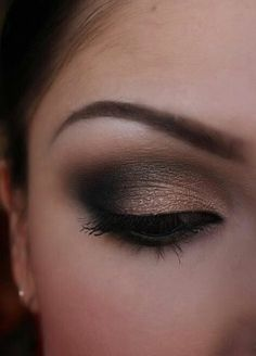 Gold and grey eyeshadow