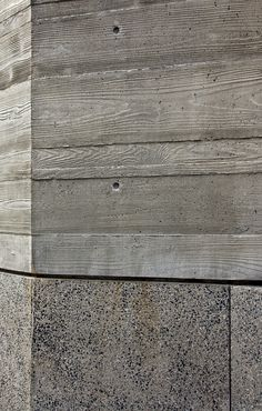 Concrete detail. Love the texture of the wood forms used above. Exposed aggregate below.