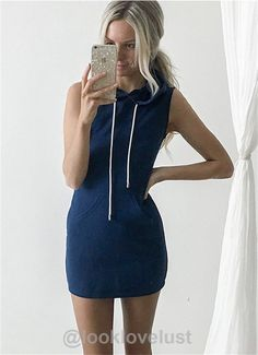 Slim Hooded Pullover Mini Dress - - Casual Dresses Look Love Lust https://www.looklovelust.com/products/slim-hooded-pullover-mini-dress