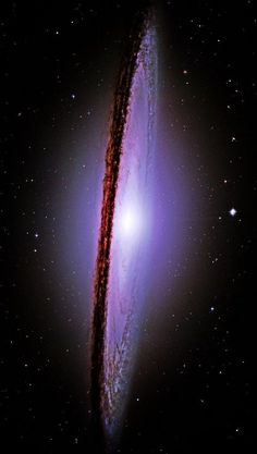 The Majestic Messier-104 (M-104) Sombrero Galaxy; Photo By NASA Hubble Space Telescope