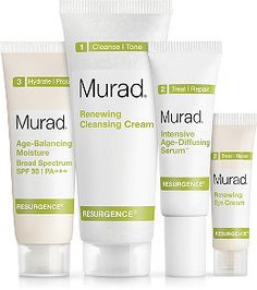 Resurgence Starter Kit is a complete regimen designed to help rejuvenate and rebalance hormonally aging skin overnight as part of Dr. Murad's Inclusive Health system of care.