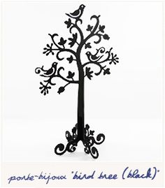 Bird Tree jewellery display.  Stop hiding you earrings in a dark box. Be proud and just hang them on this beautiful white metal tree-shaped display.