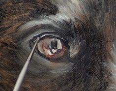 Learn how to paint a black hair dog in oil with this online art lesson. art classes, painting tutorial, how to paint animals, pet portrait painting, oil painting lessons Animal Paintings, Animal Drawings, Acrylic Painting Animals, Painting Art, Dog Drawings, Painting Abstract, Abstract Landscape, Body Painting, Painting Lessons