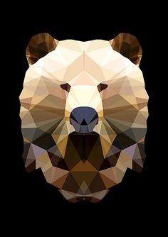 low poly wolf - Buscar con Google