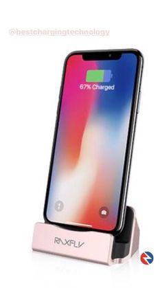 Nous avons l'honneur de vous présentez ce dock de la marque RAXFL. Il vous permettra de charger votre iphone tout en le tenant orienté à 15°.