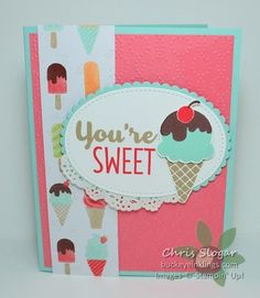 A Sneak Peek and a Throwback Stampin' Up! Kids Birthday Cards, Handmade Birthday Cards, Greeting Cards Handmade, Scrapbooking, Scrapbook Cards, Cupcake Card, Stamping Up Cards, Kids Cards, Cute Cards