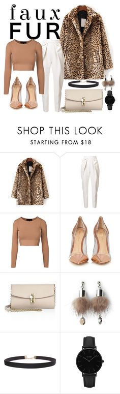 """Nude Cheetah"" by kaykap ❤ liked on Polyvore featuring WithChic, Delpozo, Gianvito Rossi, Dolce&Gabbana, Simons, Humble Chic, CLUSE, cheetahprint and fauxfur"